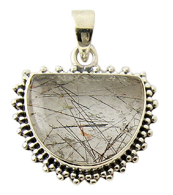Black Tourmalated Quartz Pendant 3