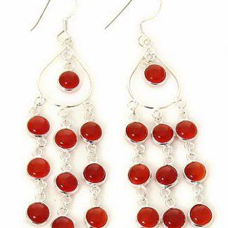 carnelian chandelier earrings 2
