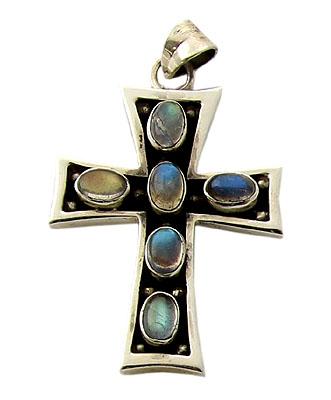 Labradorite Cross Pendant