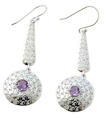 Faceted Amethyst Earrings 5