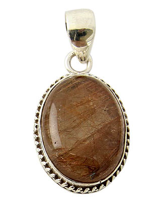Golden Rutilated Quartz Pendant 17