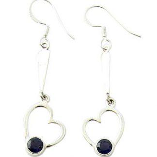 faceted iolite earrings 2
