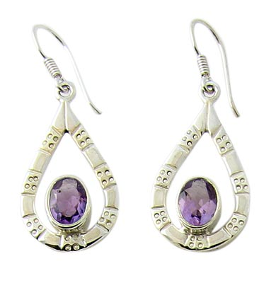 Faceted Amethyst Earrings 6