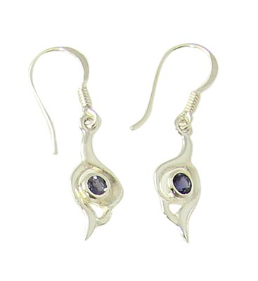 Faceted Iolite Earrings 4