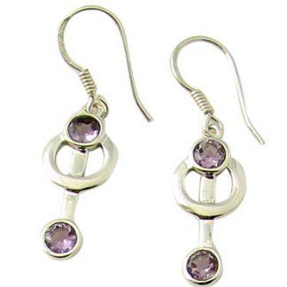 faceted amethyst earrings 7