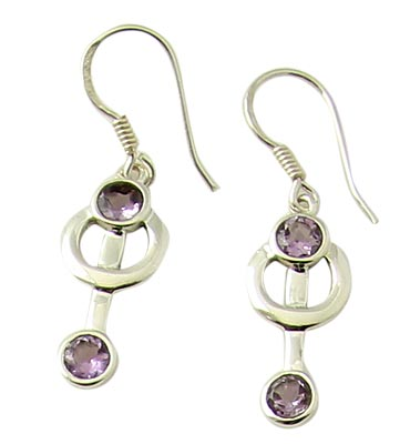 Faceted Amethyst Earrings 7