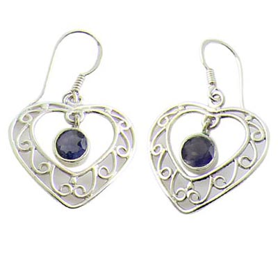 Faceted Iolite Earrings 5