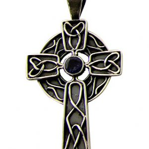 Iolite Cross Pendant