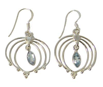 Faceted Blue Topaz Earrings 5