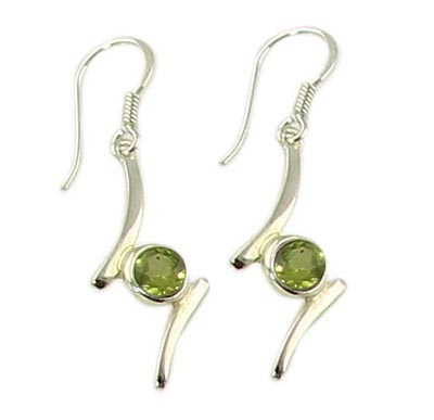 Faceted Peridot Earrings 2