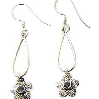 faceted iolite earrings 6