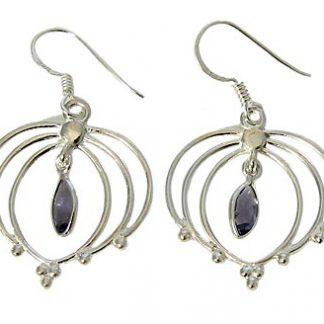 faceted iolite earrings 7