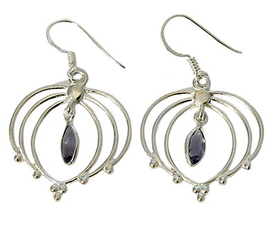 Faceted Iolite Earrings 7