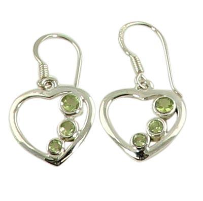 Faceted Peridot Earrings 3