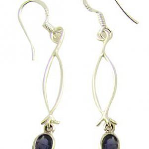 faceted iolite earrings 8