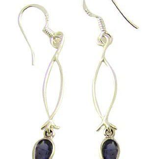 faceted iolite earrings 8