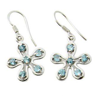 faceted blue topaz earrings 7