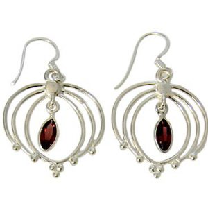faceted garnet earrings 3