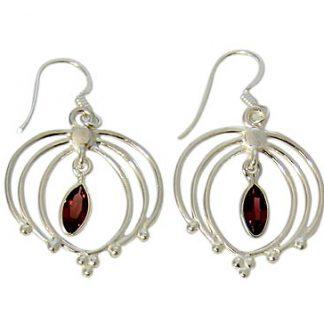 faceted garnet earrings 3
