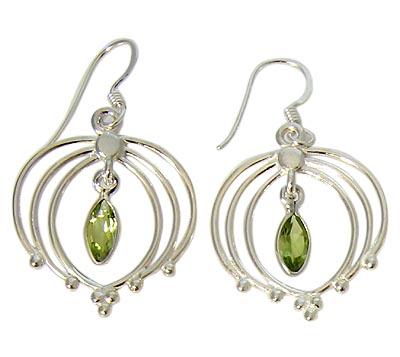 Faceted Peridot Earrings 6