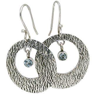 art-deco blue topaz earrings 2