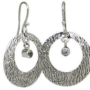 art-deco white topaz earrings