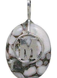 M Initial Jasper Pendant