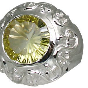 Sterling Silver Lemon Quartz Ring 3