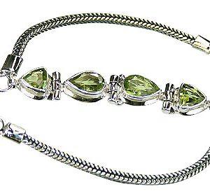 art-deco peridot bracelets