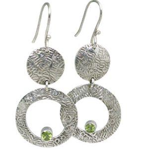 art-deco peridot earrings 4