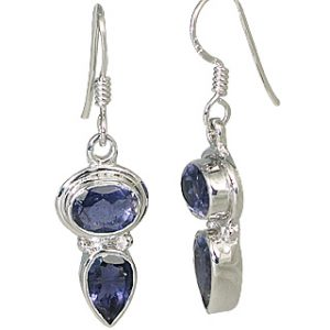 contemporary iolite earrings