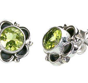 post peridot earrings
