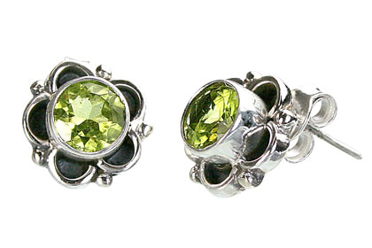 post peridot earrings
