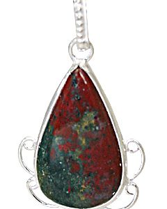 drop bloodstone pendants