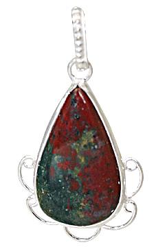 drop bloodstone pendants