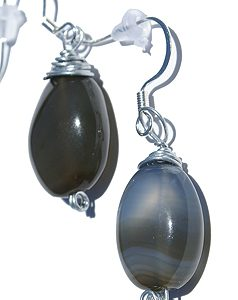 drop chalcedony earrings