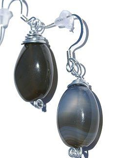 drop chalcedony earrings