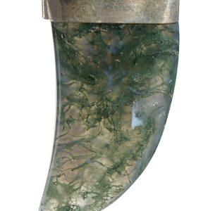 Moss Agate Bear Claw Pendant