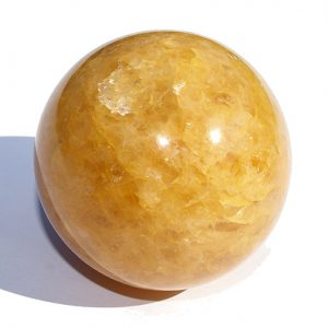 Yellow Golden Quartz Healing Sphere