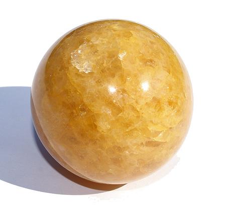 Yellow Golden Quartz Healing Sphere