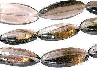 Smoky Quartz Oval Beads (16-28mm)