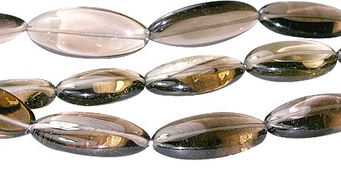 Smoky Quartz Oval Beads (16-28mm)