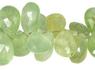 Faceted Prehnite Drop Beads (7mm-14mm)