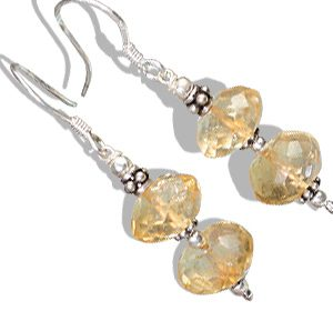 ethnic citrine earrings