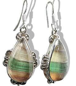 american-southwest fluorite earrings