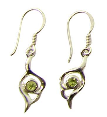Faceted Peridot Earrings 9