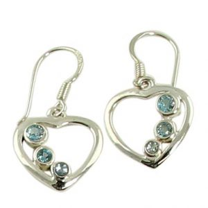 faceted blue topaz earrings 9