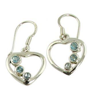 faceted blue topaz earrings 9