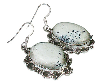 American-southwest Dendrite Opal Earrings