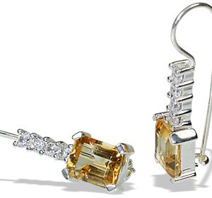 art-deco citrine earrings 6
